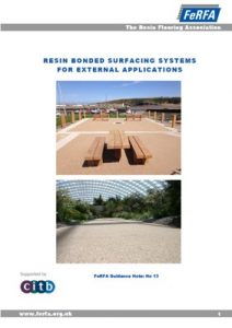 LimeBonded Decorative Surfacing System FeRFA Guidance Notes No13 External Resin Bonded Systems