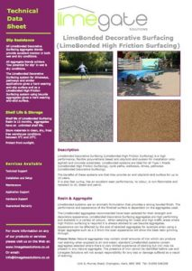 LimeBonded Decorative Surfacing System LimeBonded High Friction Surfacing