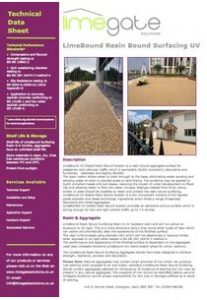 LimeBound Resin Bound Surfacing UV System