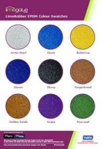 LimeRubber SafePlay Range LimeRubber EPDM Mulch Colour Swatch Sheet